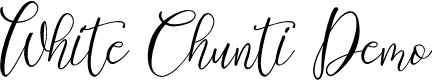 Preview image for White Chunti Demo Font