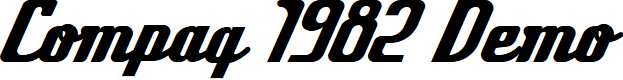 Preview image for Compaq 1982 Demo Font