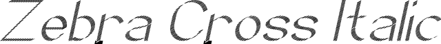 Zebra Cross Italic