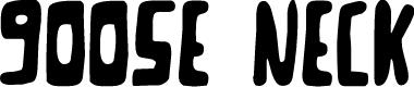 Preview image for Goose Neck Regular Font