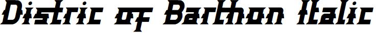 Distric of Barthon Italic