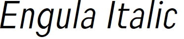Preview image for Engula Italic
