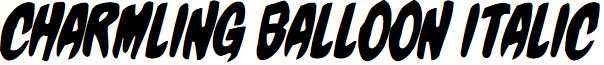 Charmling Balloon Italic