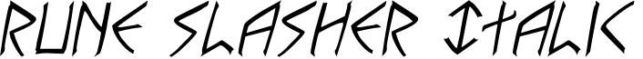 Rune Slasher Italic
