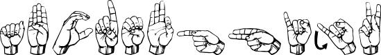 Preview image for Gallaudet Regular Font