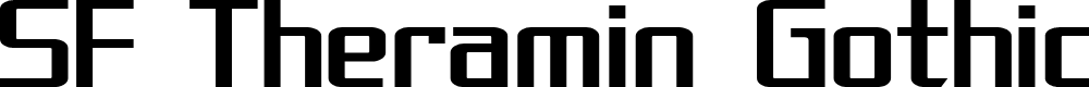 Preview image for SF Theramin Gothic Font