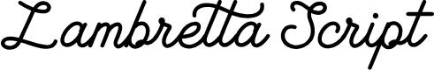 Preview image for Lambretta Script Font