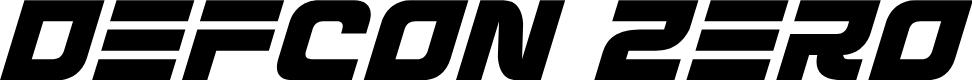 Preview image for Defcon Zero Italic