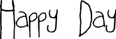 Preview image for Happy Day Regular Font