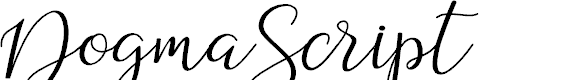 Preview image for DogmaScript Font