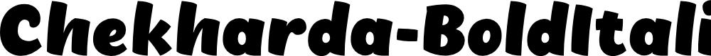 Preview image for Chekharda-BoldItalic Font