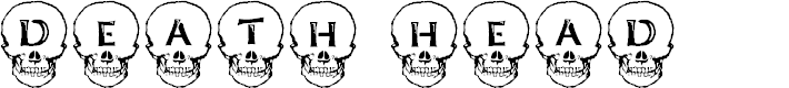 Preview image for Deathhead KeltCaps Font