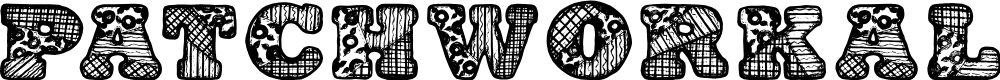 Preview image for PatchworkAlphabet Font