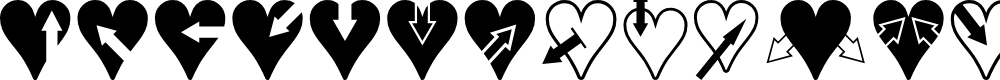 Preview image for Hearts n Arrows Font