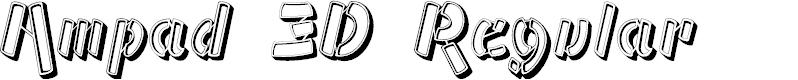 Preview image for Ampad 3D Regular Font
