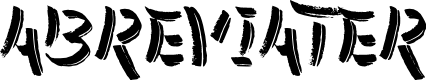 Preview image for Abreviater Font