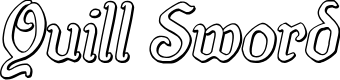 Preview image for Quill Sword Outline Italic