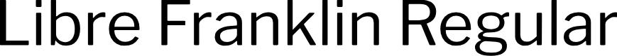 Preview image for Libre Franklin Regular Font