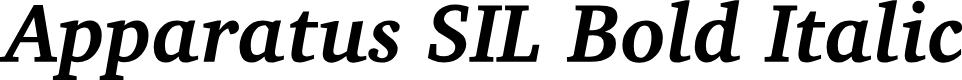 Preview image for Apparatus SIL Bold Italic