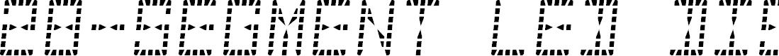 Preview image for 28-Segment LED DisplayRegular Font