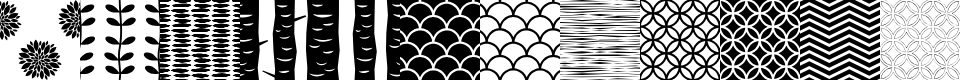 Preview image for PeoniPatterns Font