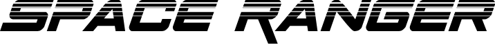Space Ranger Halftone Italic
