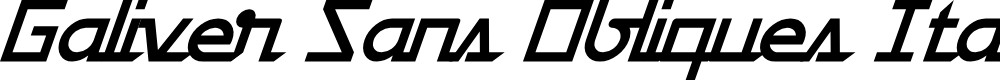 Preview image for Galiver Sans Obliques Italic