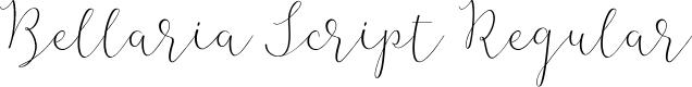 Preview image for Bellaria Script Regular Font