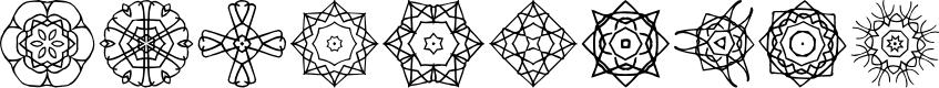 Preview image for JI Kaleidoscope Bats 2 Font