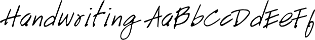 Preview image for Handwriting Font