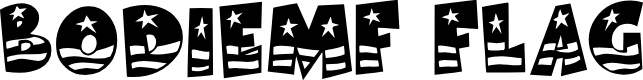 Preview image for BodieMF Flag Font
