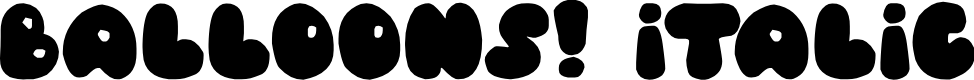 Preview image for Balloons! Italic