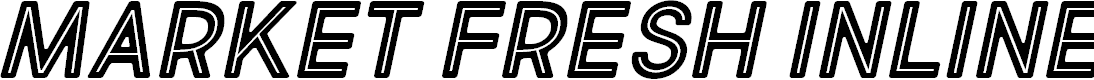 Preview image for Market Fresh Inline Bold All Caps Italic