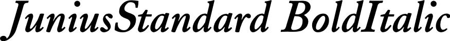 Preview image for JuniusStandard BoldItalic