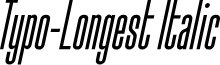 Typo-Longest Demo Italic