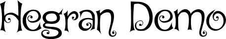 Preview image for Hegran Demo Font