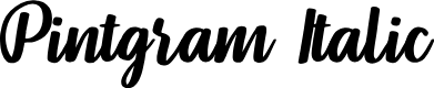 Preview image for Pintgram Italic