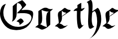 Preview image for Goethe Font