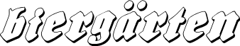 Biergärten Shadow Italic