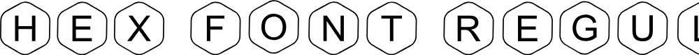 Preview image for HEX Font Regular Font