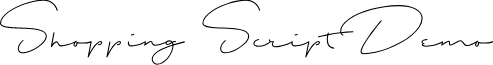 Shopping Script Demo font