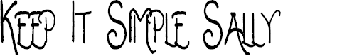 Preview image for Keep It Simple Sally Font