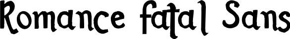 Preview image for Romance Fatal Sans Font