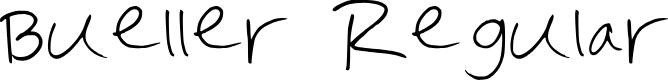 Preview image for Bueller Regular Font