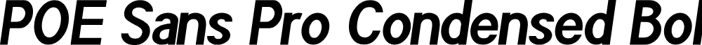 POE Sans Pro Condensed Bold Italic