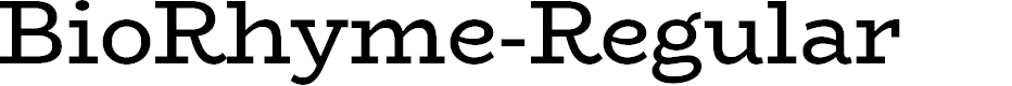 Preview image for BioRhyme-Regular