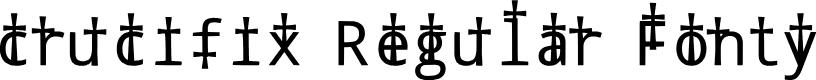 Preview image for crucifix Regular Fonty Font