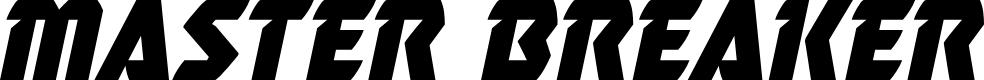 Preview image for Master Breaker Italic Font