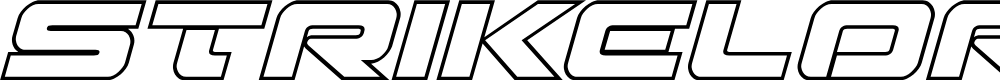 Preview image for Strikelord Outline Italic