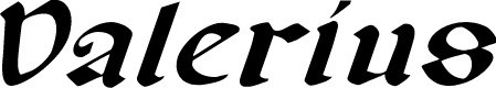 Preview image for Valerius Expanded Italic